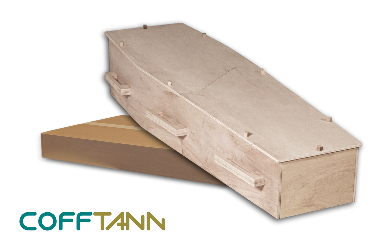 COFFTANN DIY flatpacked coffin in a box