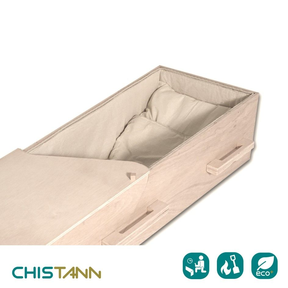 Chistann Diy Flat Packed Eco Coffin Outside Eu No Tax Plus